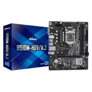 ASROCK μητρική H510M-HDV/M.2, 2x DDR4, s1200, USB 3.2, mATX   PC & Αναβάθμιση   elabstore.gr