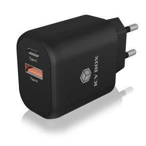 ICY BOX IB-PS102-PD 2-port USB fast charger for mobile devices up to 20 W | ΜΠΑΤΑΡΙΕΣ / ENERGY | elabstore.gr
