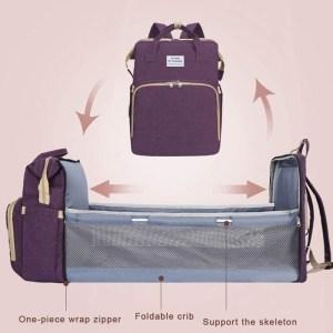 2 in 1 τσάντα πλάτης και παιδικό κρεβατάκι TMV-0052, αδιάβροχη, μπλε   Οικιακές & Προσωπικές Συσκευές   elabstore.gr