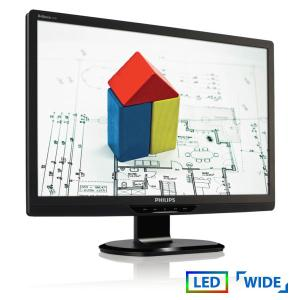 """Used Monitor (A-) 220Sx LED/Philips/22""""/1680x1050/Wide/Black/D-SUB & DVI-D   Refurbished   elabstore.gr"""