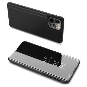 POWERTECH θήκη Clear View MOB-1663 για iPhone 13 Pro Max, μαύρη   Αξεσουάρ κινητών   elabstore.gr