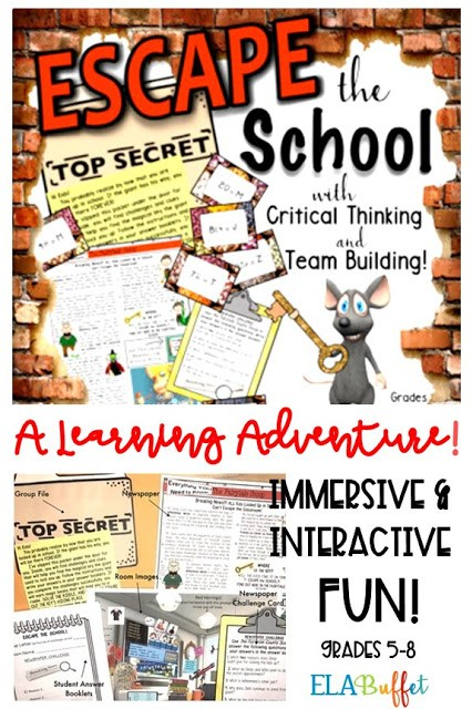 Your students will find themselves trapped in school by a giant who thinks they are too clever! The kids will work in teams to find a magical key that the giant has hidden. Will they #ESCAPE? #EscapeRoom #Breakout #ClassroomActivity #MiddleSchool #MiddleSchoolEscapeRoom #ELAActivity #ELAescaperoom #CloseReading #TeamBuilding