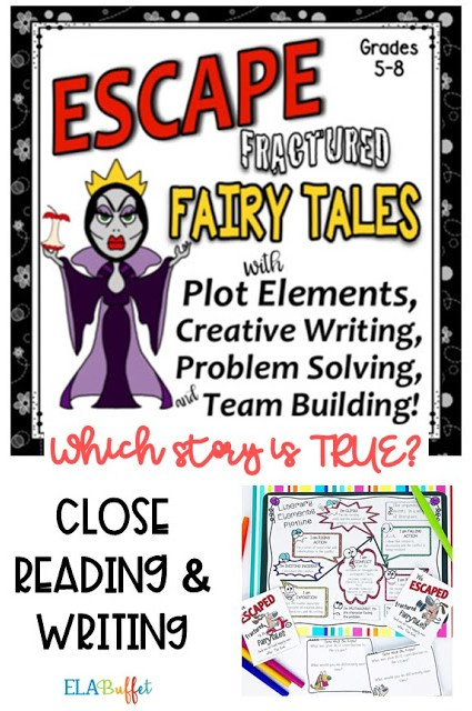 Your students are on a trip to see how magazines are created, but something goes terribly wrong! They are trapped...unless they can complete a series of tasks. Can they #ESCAPE? #closereading #fracturedfairytale #learnplot #literaryelements #middleschool #breakout #classroomescaperoom #FunELAActivity #teacher #middleschoollesson #valentineescaperoom #teambuilding #middleschoolelalesson #creativewriting