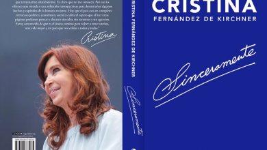 """Photo of Cristina lanza su libro """"Sinceramente"""""""