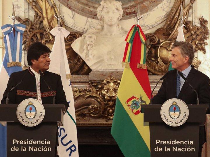 El encuentro entre Mauricio Macri y Evo Morales