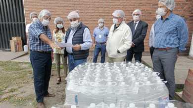 Photo of Una fábrica de alcohol realizó una importante donación