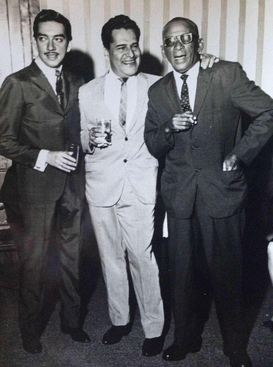 Con Marco Antonio Muñiz y Rafael Hernandez