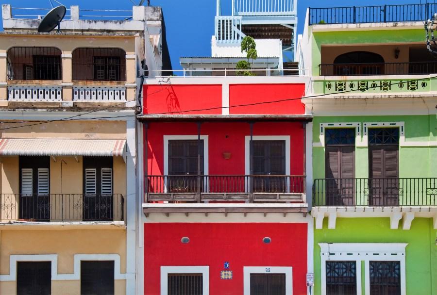 Colorful buildings in Old San Juan