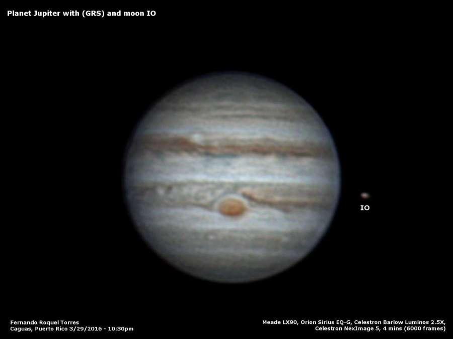 SAPR - Foto del planeta Júpiter por Fernando Roquel Torres