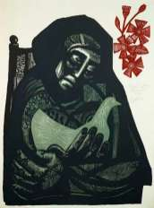 Mujer con flores Jose Alicea