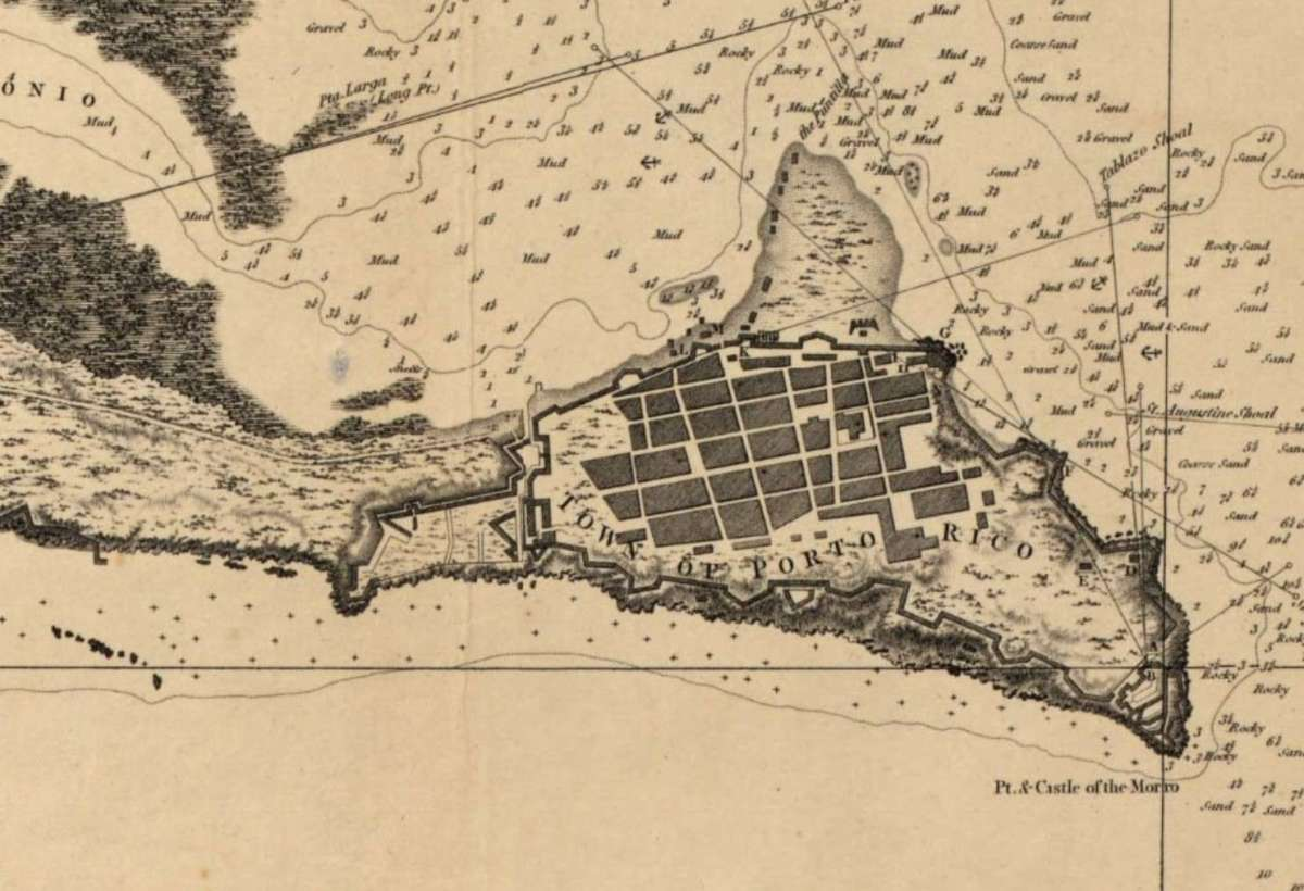 The Principal Harbor in the Island of Porto Rico 1794 British Survey.