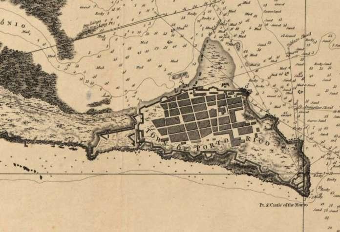 The Principal Harbor in the Island of Porto Rico 1794 British Survey.