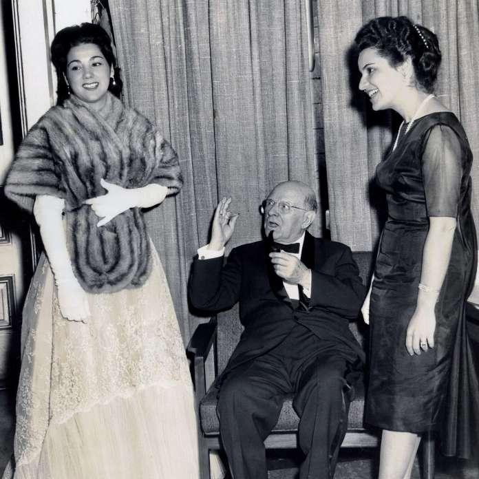 El Maestro Casals, Marta Casals y Olga Iglesias