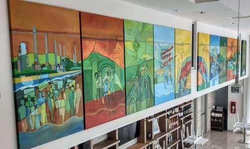 mural políptico