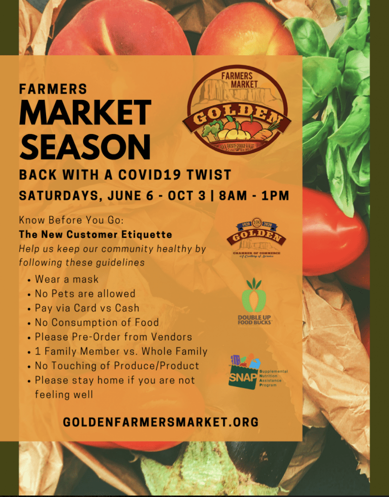 Guidelines for attending the Golden Farmers Market during the Covid-19 pandemic