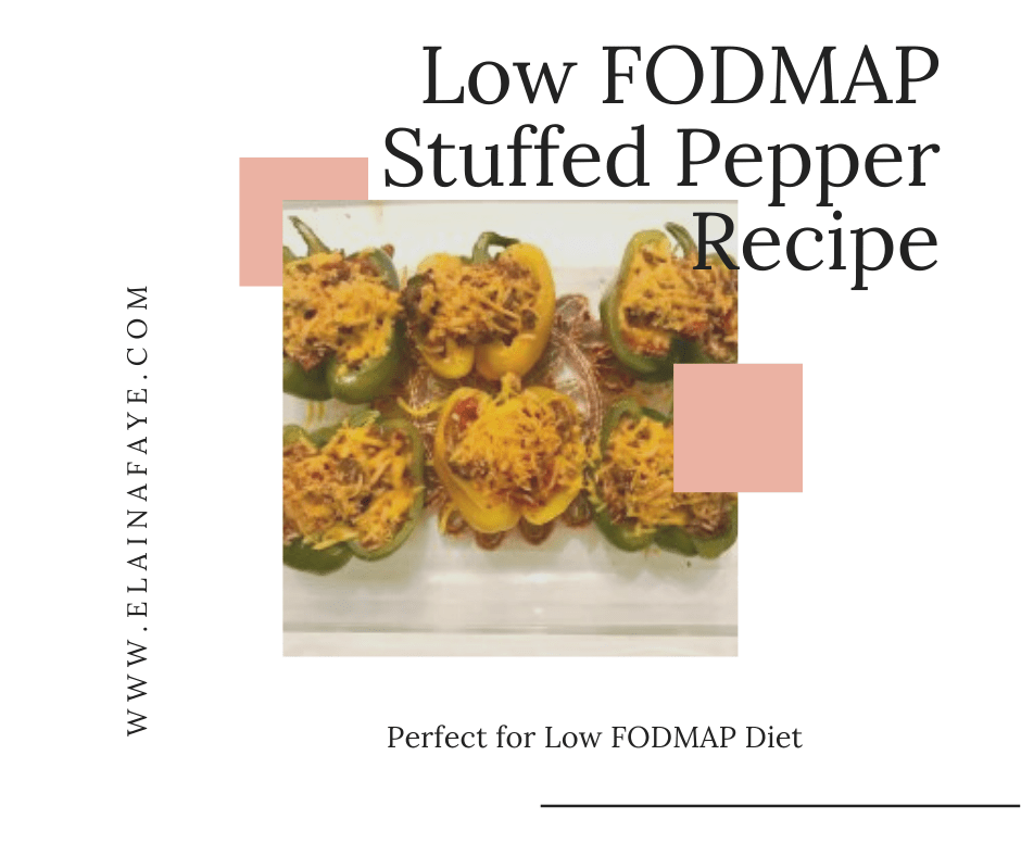 Easy low FODMAP Stuffed Peppers.
