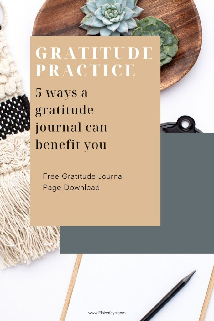 5 ways a gratitude journal can improve your life. Daily gratitude practice is the best thing to do when you are in a tough season of life. It change your mindset and help you find joy in everyday. Free gratitude journal page is inside!