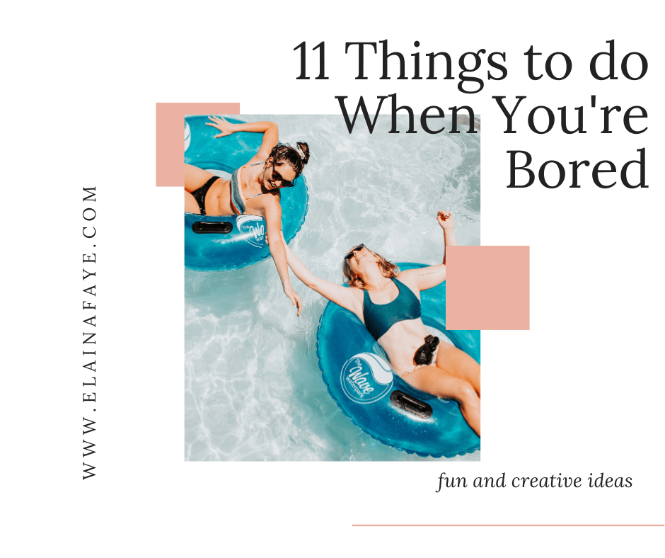 Are you sitting at home bored out of your mind? In this post you will find a list of 11 activities that you can do when you are bored. Fun activities for kids that will get them outside. Family activities that will make lasting memories. Fun activities for couples that will get them off their phones. Bored at home no more! #bored #funactivities
