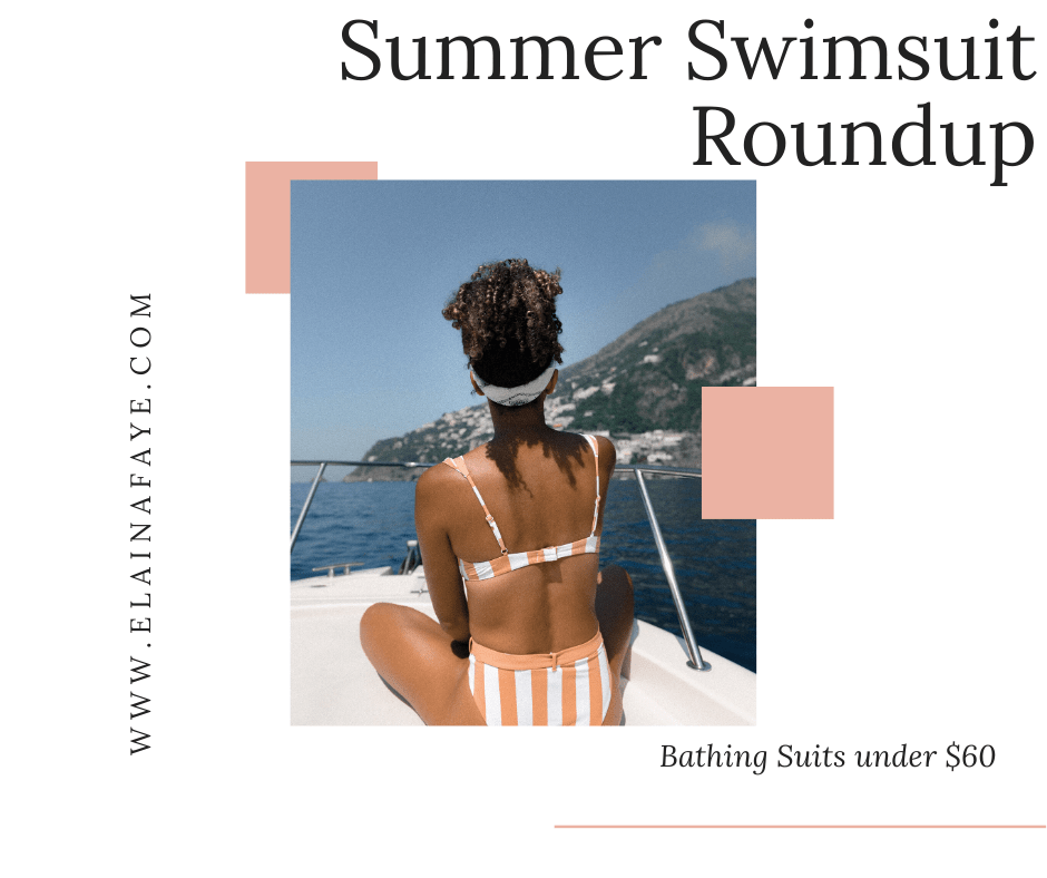 Looking for the perfect swimsuit this summer? Look no further! This list has one-piece bathing suits and bikinis that are flattering, affordable, and will make you feel confident. All swimsuits are under $60.