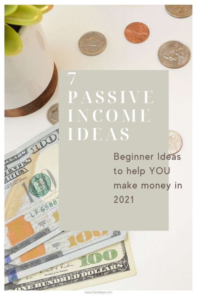 7 Beginner passive income ideas that will help you generate more money in 2021. Flexible side hustles that allow you to make money while you sleep.