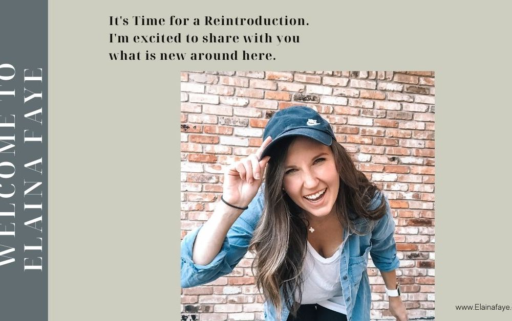 It's time for a reintroduction! This post will tell you what you will find here at Elainafaye.com. I'm excited you are here.