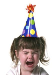 cry girl birthday hat