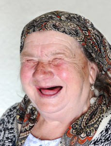 laughing old woman
