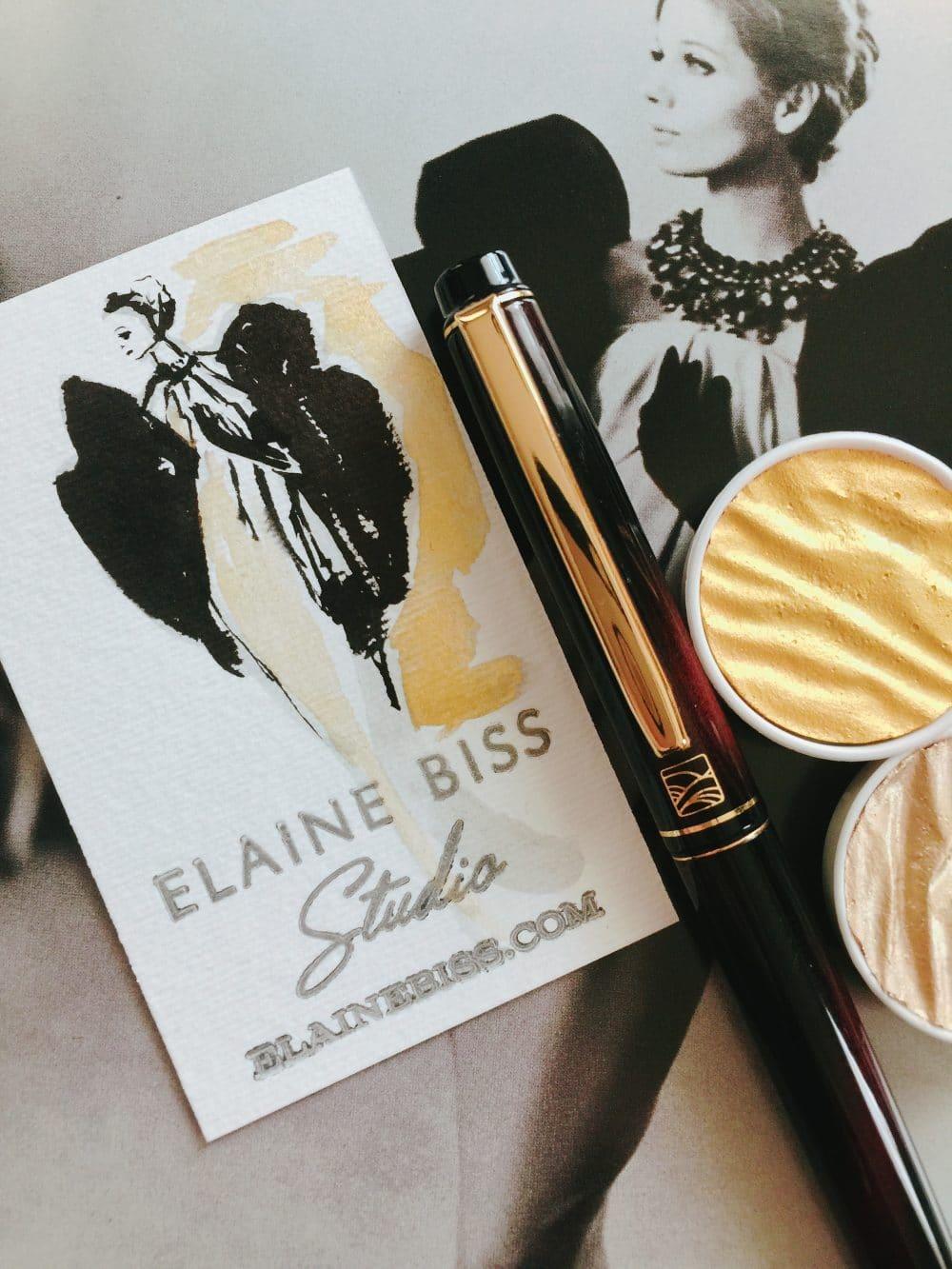 Vintage Balenciaga Fashion Illustration Sketches on Letterpress ...