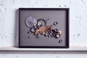 Autumn Cascade - Ceramic wall piece by Elaine Bolt, photography by Alun Callender