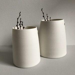 Elaine Bolt Ceramics - Chalk White Vessels