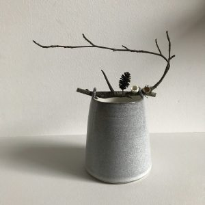 Elaine Bolt Ceramics - Stone Grey Woodland Vessel