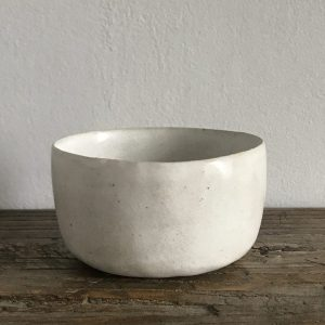 Elaine Bolt - Stone White pinch pot 1
