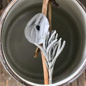 Elaine Bolt Woodland Stone lavender leaves