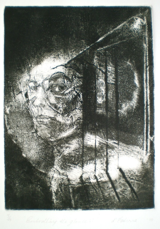 Controlling the Gaze, 1/4, 2010, 25x18 cm print, 50x35 cm paper, intaglio and drypoint