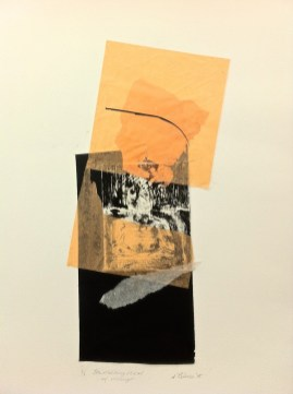 The Melting Heat At Mungo, 2015, collage and drypoint