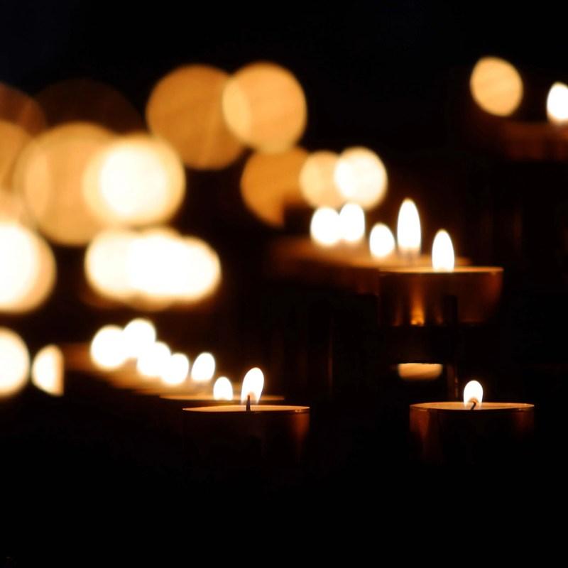 Candles lighting