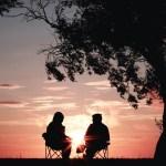 Conversations at sunset