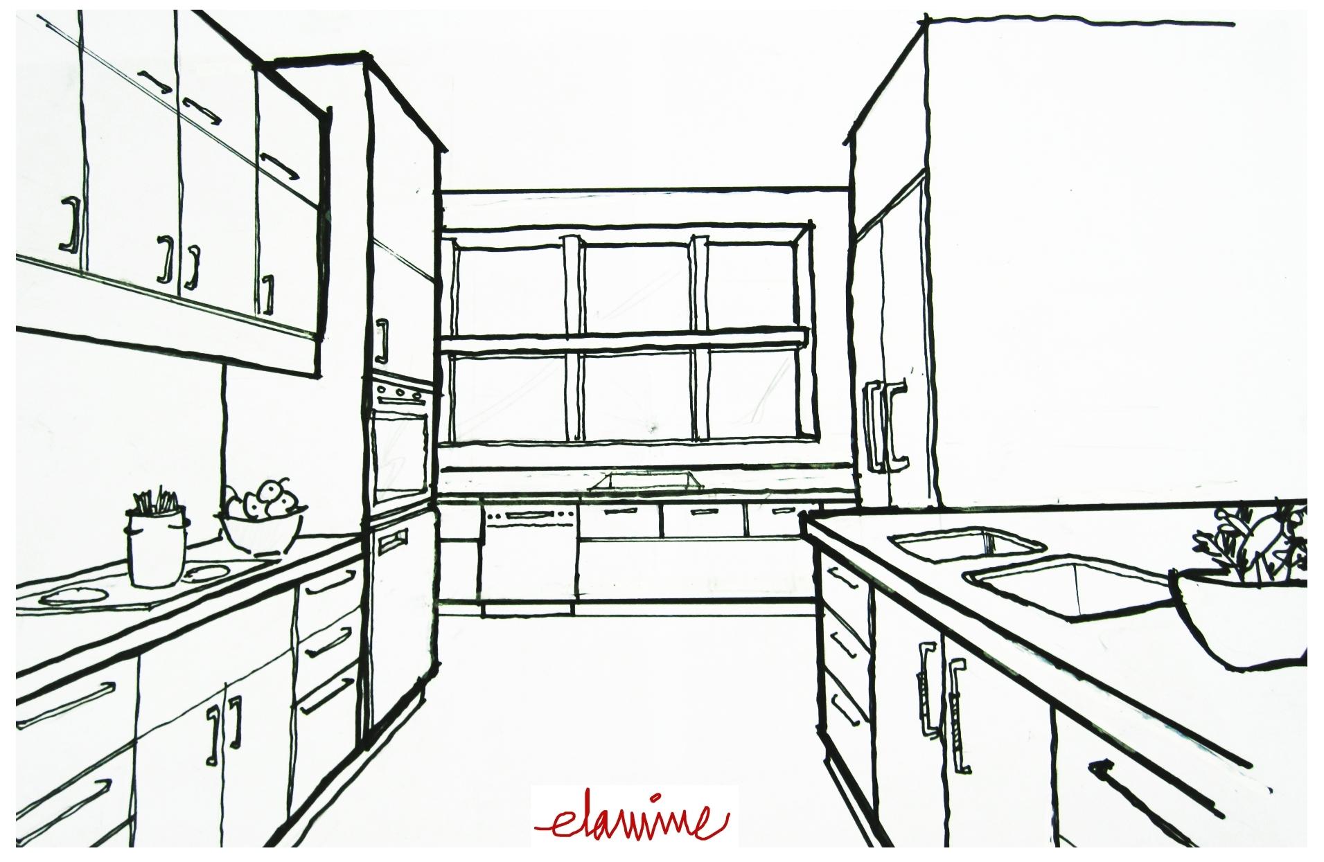 3d Sketches Kitchen Ideas 2