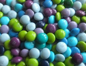 Shades of blue m and ms