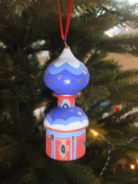 The decorations my daughter brought us from Moscow look good on the tree