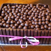 Chocolate Overload Cake (or, Bunfight at the Malteser Corral)