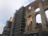 Colosseum with scaffoding
