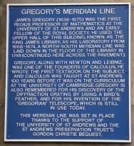 Gregory's Meridian Line