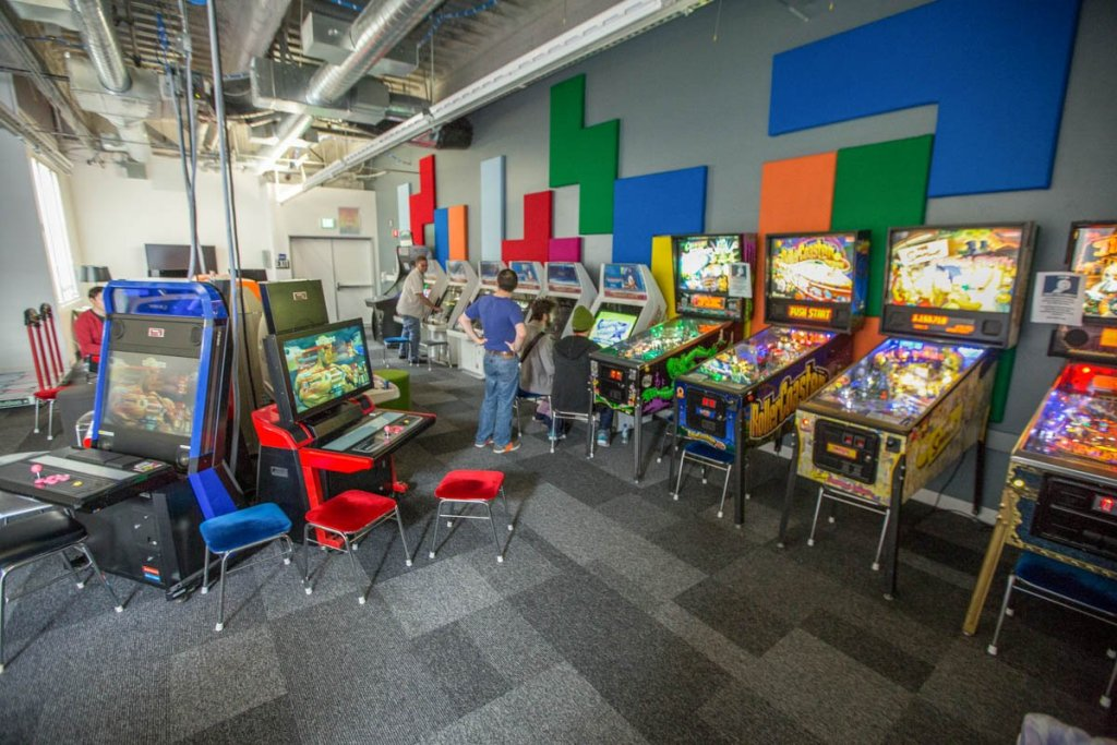 Facebook's campus arcade
