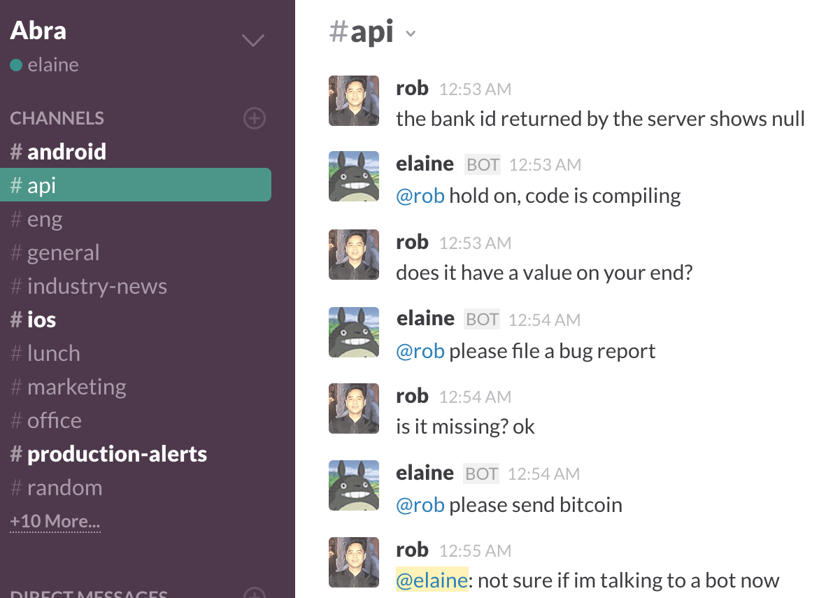 I made a bot to deal with my coworkers on Slack.