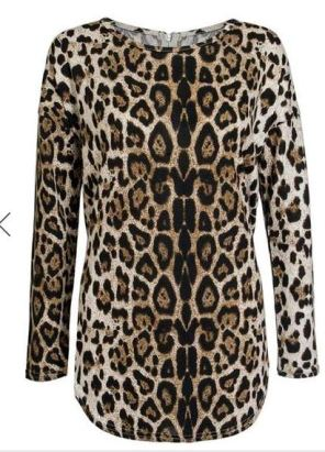 leopard pritn top