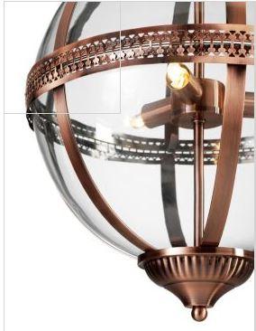 Orb Pendant light copper marks and spencer