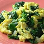 omletă cu legume verzi