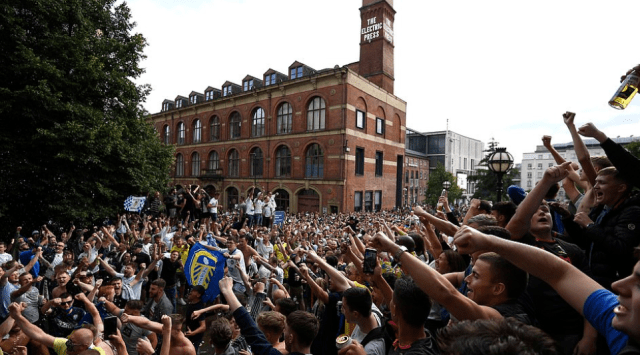 Promoting coronavirus infection? Leeds United fans celebrate elevation to the Premier League for the first time in 16 years 3