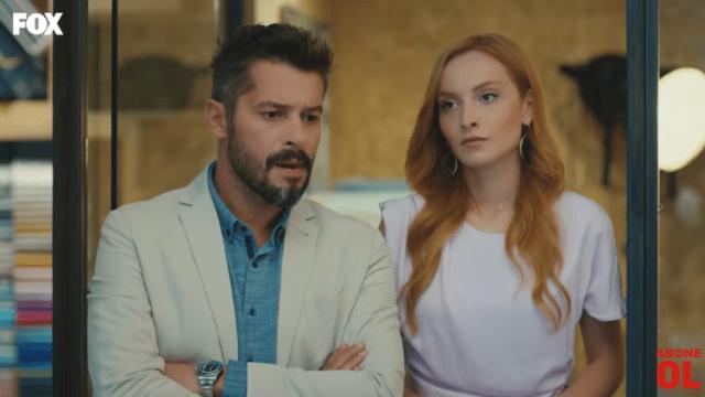 Episodul 8 din Sen Çal Kapımı (Bate la ușa mea) cu Hande Erçel și Kerem Bürsin.  Secvențe Video 12